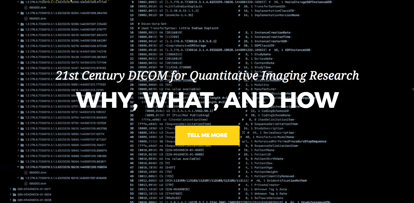 DICOM tutorial at MICCAI 2018
